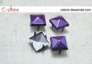 100Pcs 9mm Purple Pyramid Rivet STUDS