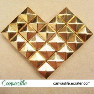 100pcs 12MM Golden Color Pyramid STUDS