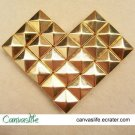 100pcs 7MM Golden Color Pyramid STUDS
