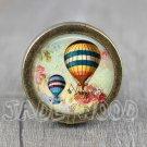 Balloon Glass Cabochon Bronze cabinet Dresser Knobs pull / Dresser Pull