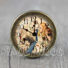 Alice in Wonderland Glass Cabochon Bronze cabinet Dresser Knobs pull / Dresser Pull