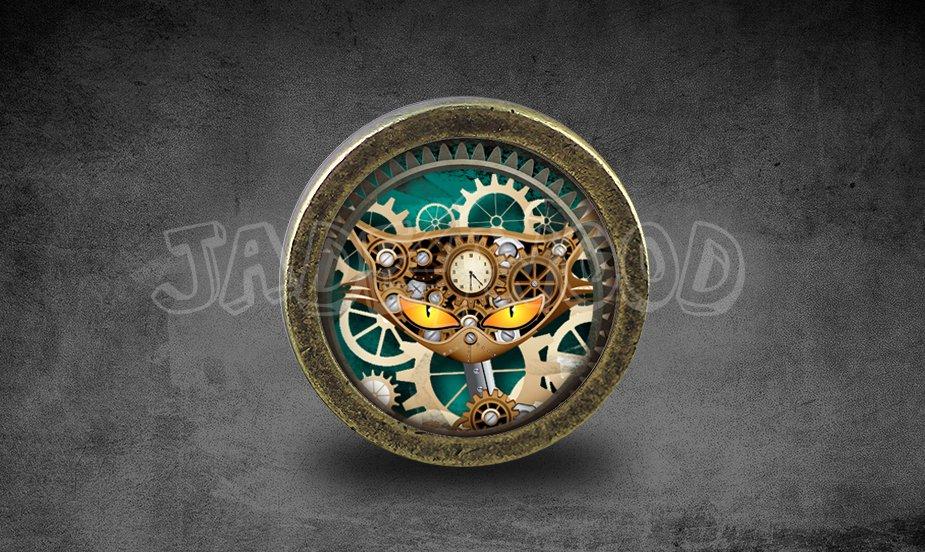 Steampunk Glass Cabochon Bronze cabinet Dresser Knobs pull / Dresser Pull