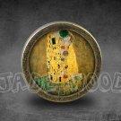 Gustav Klimt Glass Cabochon Bronze cabinet Dresser Knobs pull / Dresser Pull