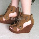 New high-heeled shoes princess shoes Roman sandals yuzui wedges sandal shoes