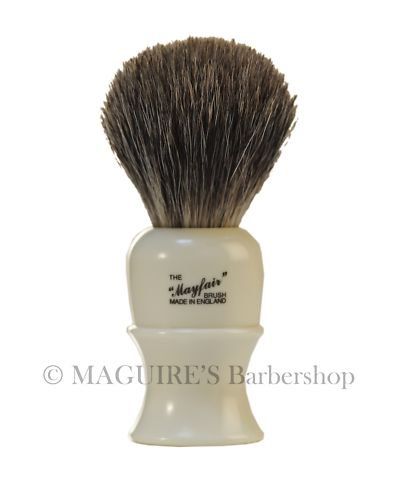 #403b VULFIX MAYFAIR LATHE HANDLE, BADGER SHAVING BRUSH
