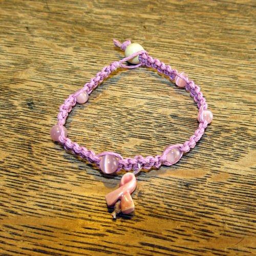 Breast Cancer Awareness Bracelet, Pink