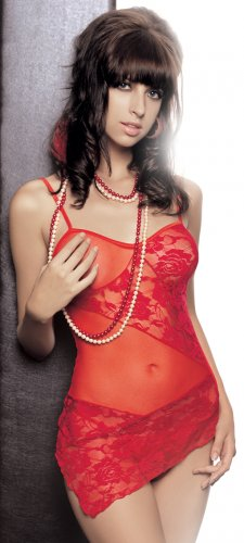 SENSUAL LINGERIE SHEER LACE FITTED BABYDOLL