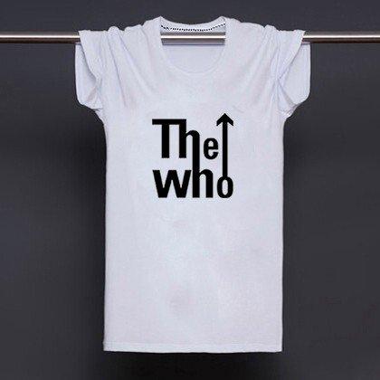 Buy UK Rock Music Band The Who Printed White T Shirt Men Letter Print T shirt Man Tee Shirts Street