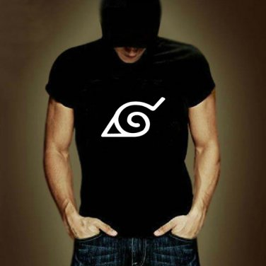 Buy Wooden Leaves Ninja Village Sign Printed Short Sleeve T Shirt Naruto Men Clothing Print T shirt
