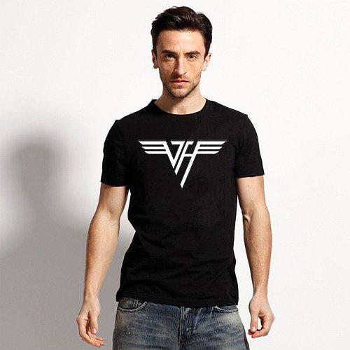 Buy 70s Rock N Roll Band Van Halen Logo Letter Print T shirt White Tshirt Boy Tee Mens Clothes Vint