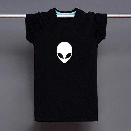 Buy Alien Logo Print T shirt Men Black Superhero Fashion T Shirt Tee Top Boy Anime Cartoon Tshirt S