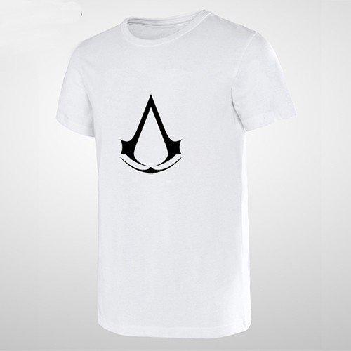 Buy Cool Guy Wear Stylish Men T Shirt Assassins Creed Logo Print Video Game T shirt Man Tee Skatebo