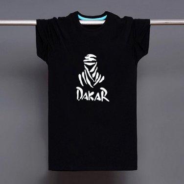 Buy Dakar Rally Race Logo Print T shirt Men Black Fashion T Shirt Tee Top Boy Manga Cartoon Tshirt