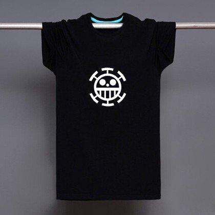 Buy Japanese Anime Onepiece Pirate Of Heart Logo Print T shirt Men Black Superhero Fashion T Shirt