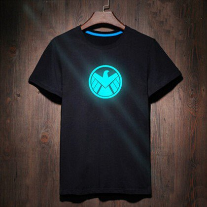 Buy 100 Cotton Black Anime T Shirt Men Clothing Shield Ironman T shirt Man Tee Shirts Street Style