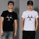 Buy Resident Evil Biohazard Logo Print T shirt Men Black White Combed 100 Cotton T Shirt Teenage Bo