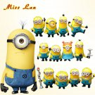 Buy 12Pcslot Fashion Cartoon Despicable Me 2 Minions Decoration Toy 3D Eye Mini Moive Star Figure T