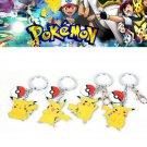 Buy 4pcs Cute Cartoon Pokemon Anime Pikachu Style Key Ring Keychain Pendant Keyring Metal Figure To