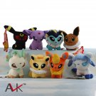 Buy 8pcslot Mini Pokemon Figure Plush Doll Toy 5.1 Eevee Family Pikachu Charmander Gengar Bulbasaur