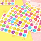 Buy 10 Sheetsset Cute Emoji Smile Face Sticker, Kindergarten Encourage Children Wall Iphone Sticker