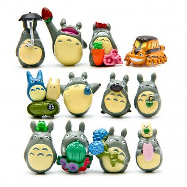 Buy 12 pcslot Japan Ainme Cute My Neighbor Totoro Hayao Miyazaki Model Doll For Children Collection