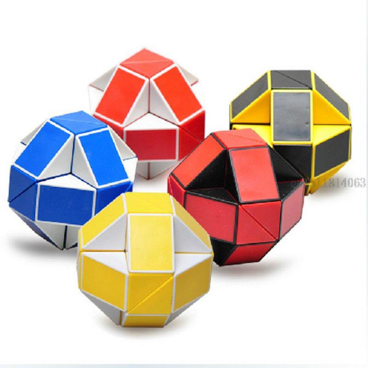 Buy 24 Blocks Shengshou Magic Cube Puzzle Strange shape Magic Ruler 3D Snake Toys Children Educatio