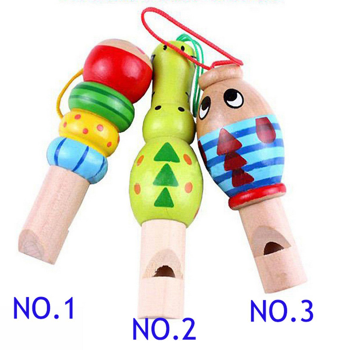 Buy 3colour Musical Toy Cute Wooden Musical Whistle Toys for Kids Baby Children Gift free shipping