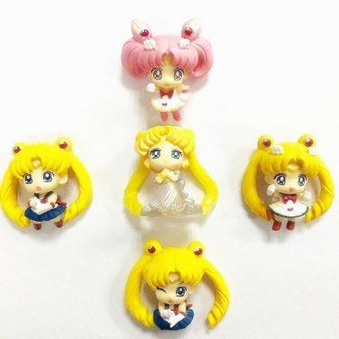 Buy 5 colour Sailor Moon Figures Tsukino Usagi Mars Jupiter Venus Action PVC Figure Toy with box fr