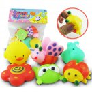 Buy 6pcslot Genuine H Q Six Animal Toys Soft Rubber Float Squeeze Sound Squeaky Dabbling Bath Toy F