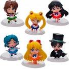 Buy 6pcslot Anime Cartoon Sailor Moon Toys Close  Open eyes Mars Jupiter Venus Mercury Q Version PV