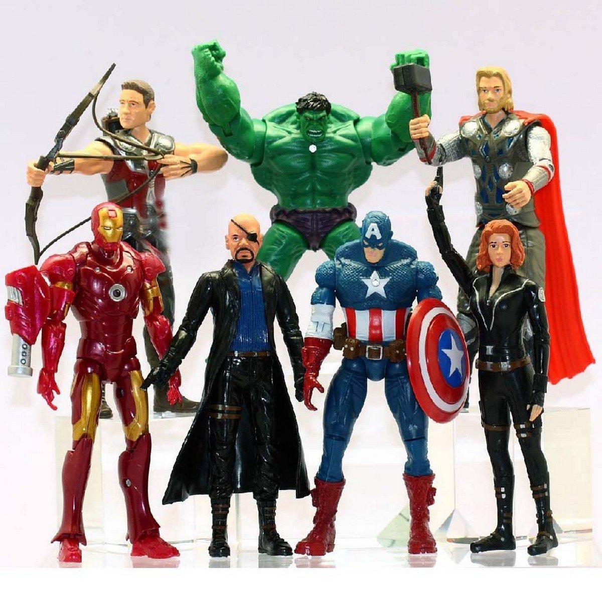 Buy 7 Pcslot Super Hero Avengers Action Figure Collectible Toys  Model Captain America,Iron Man, Ra
