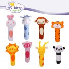 Buy 8 pcslot itty bitty Puzzle Soft Baby Toy Hand Bells Cartoon Animal Model Ring bell Rattle Squea
