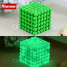 Buy 5mm 216pcs , 6pcs  Neodymium Cube Magnetic Balls Fluorescence Light  Noctilucent 6 x 6 x 6 Neo