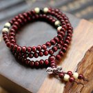 Buy  Fashion 108 Red Sandal Wood Bracelet Multilayer Beads long Hand Catenary Men and Women Charm B