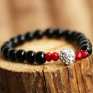 Buy  New Summer High quality Shambhala Black Agate Bracelets  bangle for Women and Men Fashion 7MM