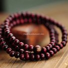 Buy China Wind Classic Red Sandalwood Chunky Wood Rosary 108 Bracelets Beads Handmade Lucky Multila