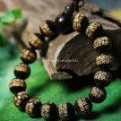 Buy Fashion Natural Ebony 15mm Beads Bracelet  Bangle Women and Men Buddhist Bracelet Adjustable Lu
