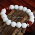 Buy New Wholesale Fashion Jewelery 12MM Onyx Ceramic beads Tibetan silver Buddha Bracelets Women Ch