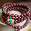 Buy New! ! ! Wholesale Violet Beads Rosewood Turquoise Citrine 6mm Prayer beads Lovers Multilayer B