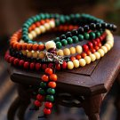 Buy Wholesale Fashion stretch Bracelet Men and Women 6mm Wooden Beads Natural Colorful Bodhi silver