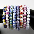 Buy 1PC Flower Bracelet China Style Bracelet Ceramic Beads Stretch Women Children Jewelry Vintage A