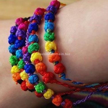 Buy  New Arrival Fashion Charm Bracelet Bohemian Color line Handwork Weave friendship Bracelets for