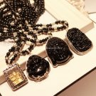 Buy 6MM Beads Buddha Pendant Natural Obsidian Vintage Necklace Black Buddha Head Pendant For WomenM