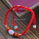 Buy Fashion Red Silk Jade Bead Weave Bracelets Women Gift Simple Shambhala Charm Wholesale Tibetan