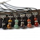 Buy  Jewelry Round Stone Necklace Natural Quartz Agate Tiger Eye Stone Pendant Rope Necklace For Wo