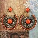 Buy New Fashion Women Vintage Multicolor Resins  Beads Flower Long Pendants Statement Drop Earrings