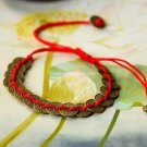 Buy New! ! Wholesale Tibetan China Wind Coins Red string Cotton Weave Bracelets Women Gift Handmade