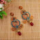 Buy Pick Style:Women Drop Earrings Long Dangle Earring Acrylic Beads Pattern Fashion Jewelry For Wo