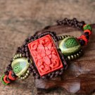 Buy Retail  Wholesale Handmade Ceramic Bracelets Jewelry Brown Rope Beads Accessory Vintage Bangles