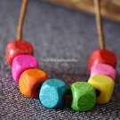 Buy Top Quality Original Design Fashion Necklaces for Women Color Ethnic Style Vintage Wooden Neckl